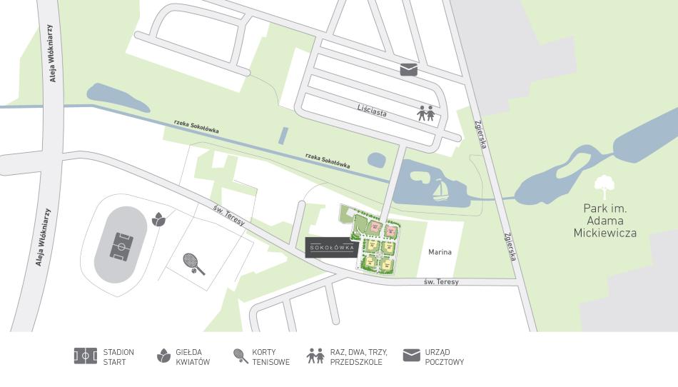 Sokołówka - mapa osiedla - SGI SA